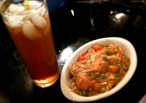 Sweet Iced Tea and Chicken n' Dumplings