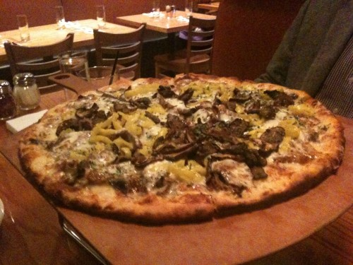 Flat-iron steak pizza from Matchbox