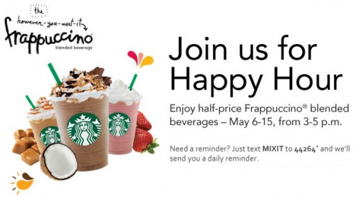 Starbucks Frappucino® Happy Hour