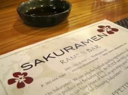 Sakuramen Menu